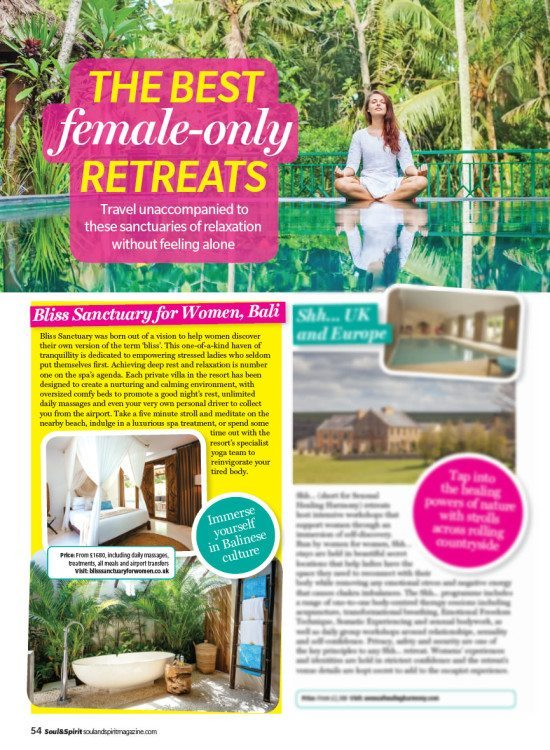 Soul & Spirit Magazine: The Best Female-Only Retreats