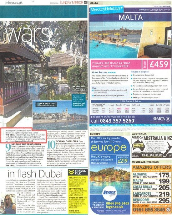 Sunday Mirror: Top 10 Renew Year Escapes - #8 Bliss Sanctuary For Women in Bali.