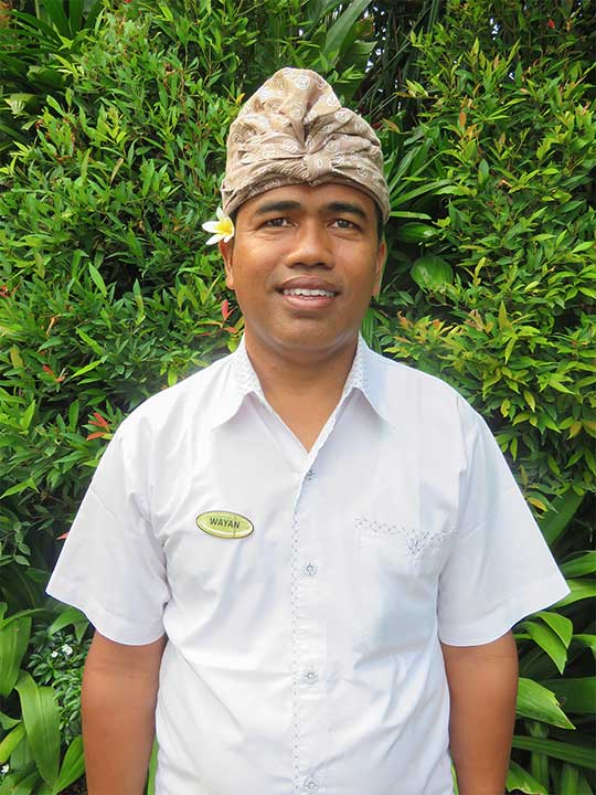 Wayan is one of our Main Drivers and just one fo the many faces of Bliss in our beautiful Bali Womens Retreats