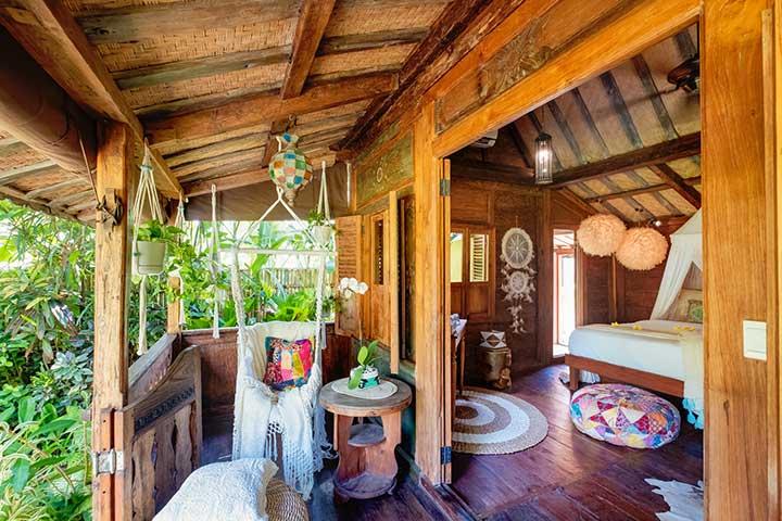 Beautiful bedroom with balcony, Bali retreat, Bliss Sanctuary For Women, Canggu