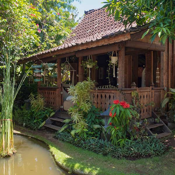 Lovely relaxing verandah in Bali retreat, Luxury Double Joglo Room, Bliss Sanctuary For Women, Canggu