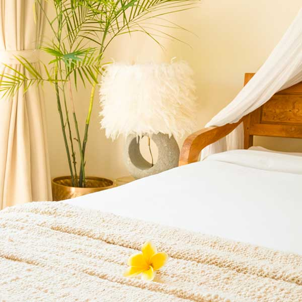 Luxury bedroom in Bali retreat, Bliss Retreat Room, Bliss Sanctuary For Women, Canggu