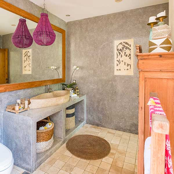 Gorgeous luxury bathroom in Bali retreat, Bliss Retreat Room, Bliss Sanctuary For Women, Canggu