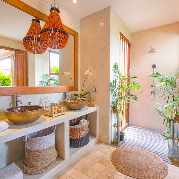 Gorgeous luxury bathroom in Bali retreat, Garden Bath Retreat Room, Bliss Sanctuary For Women, Canggu