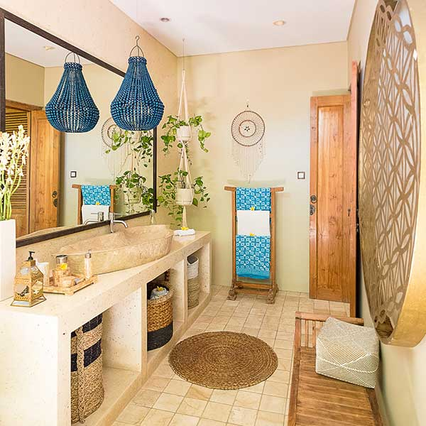 Luxury ensuite in beautiful bedroom in Bali retreat, Bliss Retreat Room, Bliss Sanctuary For Women, Canggu