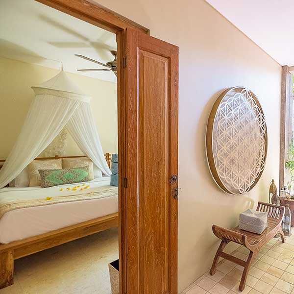Beautiful luxury bedroom with ensuite in Bali retreat, Bliss Retreat Room, Bliss Sanctuary For Women, Canggu