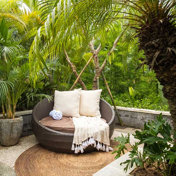 Beautiful sunlounge in Bali retreat, Blissful Lotus Suite, Bliss Sanctuary For Women, Canggu