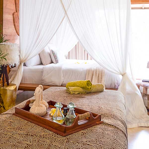 Beautiful bedroom in Bali retreat, Blissful Lotus Suite, Bliss Sanctuary For Women, Canggu