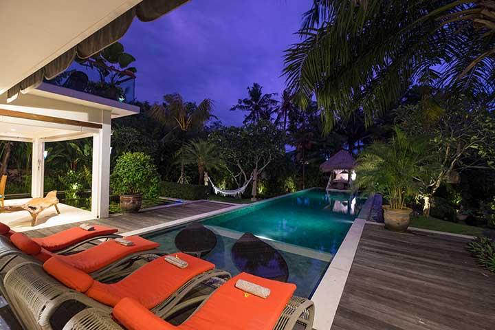 Bali retreats, Beautiful Bliss Sanctuary For Women, New Canggu Sanctuary, luxurious pool area