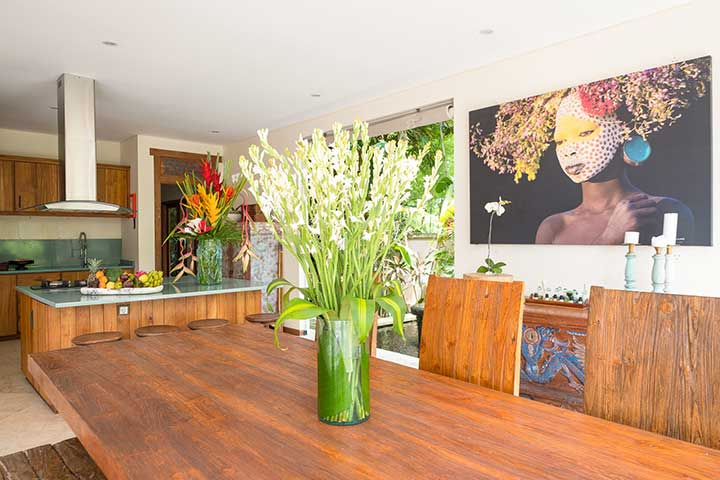 Bliss Sanctuary For Women, Canggu Bali, gorgeous dining area, wellness retreat