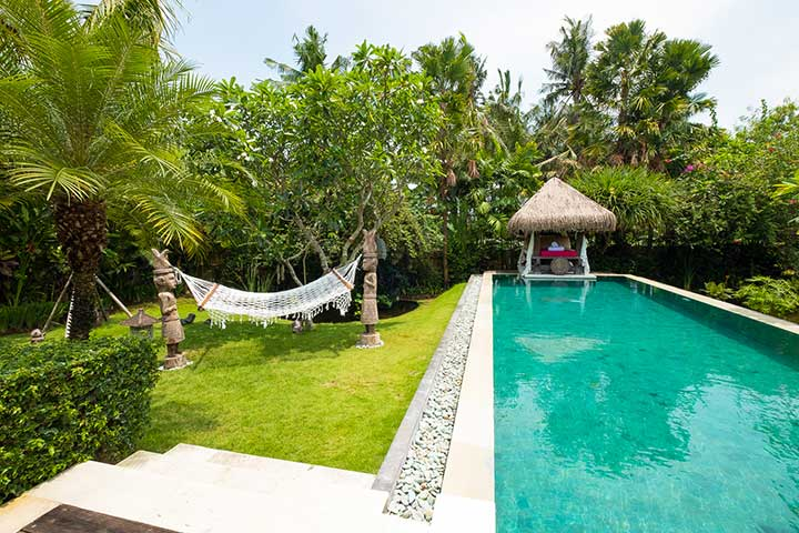 Bali retreats, chillout area, Bliss Sanctuary For Women, Canggu Sanctuary, beautiful pool