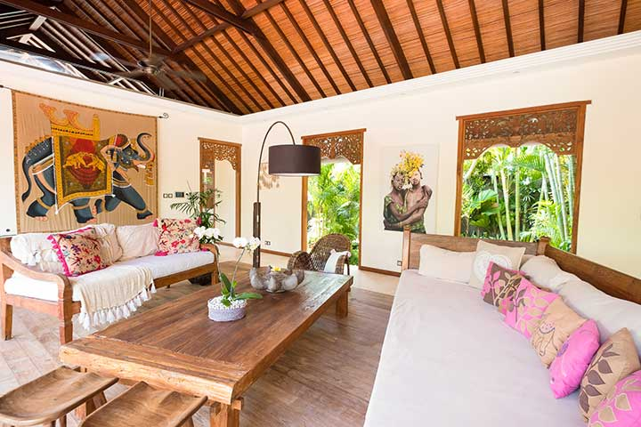 Bliss Sanctuary For Women, Canggu Bali, gorgeous living area