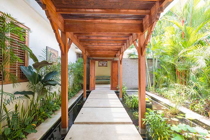 Luxury outdoor pond area, Bali retreats, Bliss Sanctuary For Women, Canggu Sanctuary