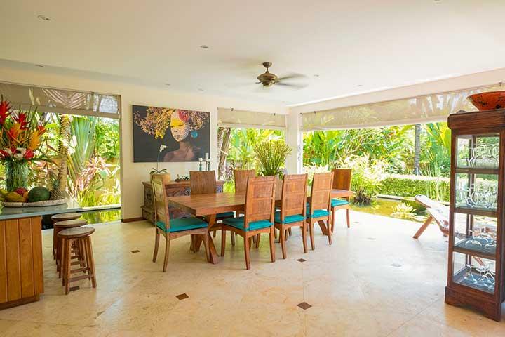 Canggu Sanctuary, Bali retreat, Bliss Sanctuary For Women, gorgeous dining area