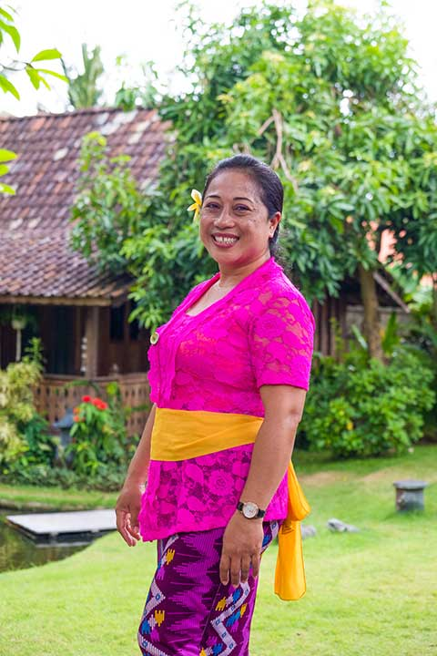 Our people - Viko is our always bubbly cook at our Canggu Women's Sanctuary - where yummy food is unlimited