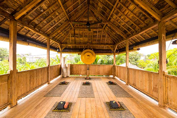 Yoga Shala at Bliss Sanctuary for Women, Canggu, Bali