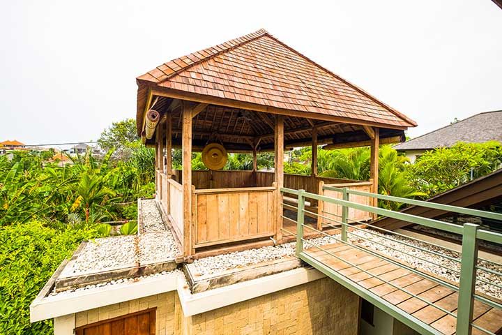Entrance to Yoga Shala at Bliss Sanctuary for Women, Canggu, Bali