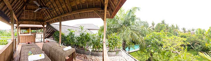Beautiful location for luxurious unlimited massages at Bliss Sanctuary for Women, Canggu