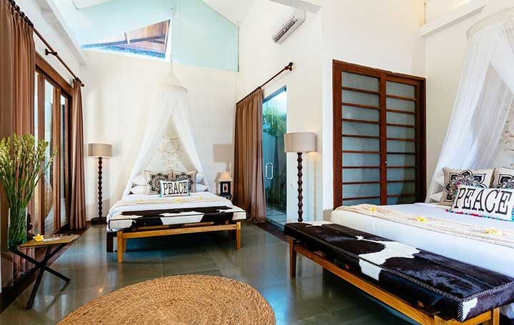 Poolside Double Room - at Bliss Seminyak Womens Retreat in Bali