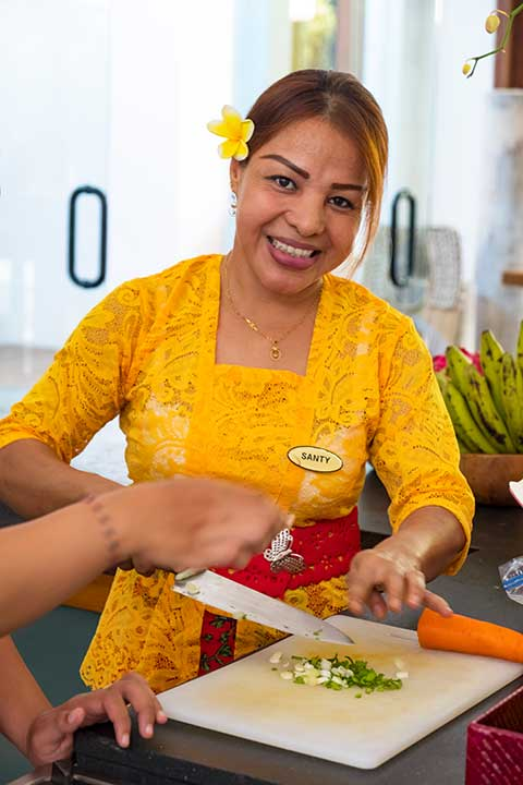 Our people: Santi is part of the kitchen and housekeeping team at Bliss Sanctuary for Women Seminyak