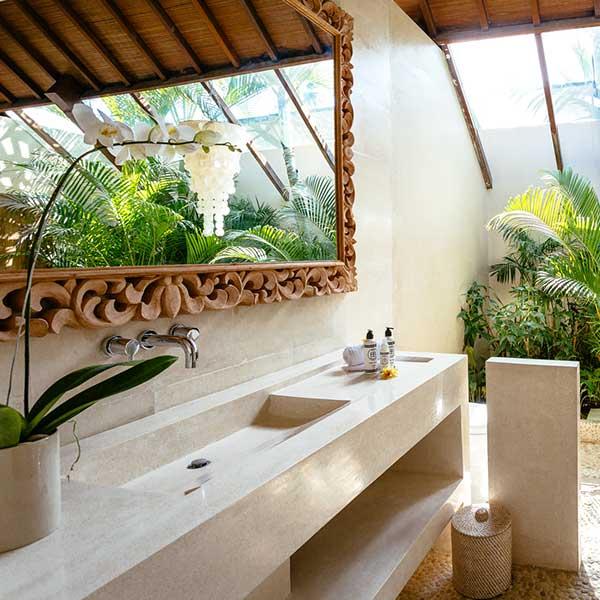 Luxury styling in beautiful bathroom in Bali retreat, Garden Retreat Room Bliss Sanctuary For Women, Seminyak