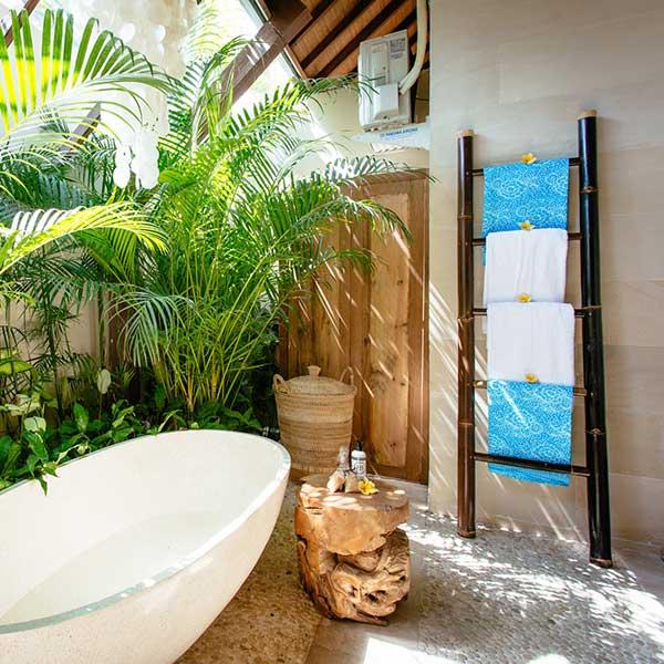 Beautifully styled bathroom in Bali retreat, Garden Retreat Room Bliss Sanctuary For Women, Seminyak