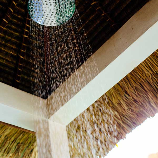 Gorgeous rain shower in luxury outdoor bathroom, Poolside Double Room, Bliss Sanctuary For Women, Seminyakus rain shower in luxury outdoor bathroom, Poolside Double Room, Bliss Sanctuary For Women, Seminyak