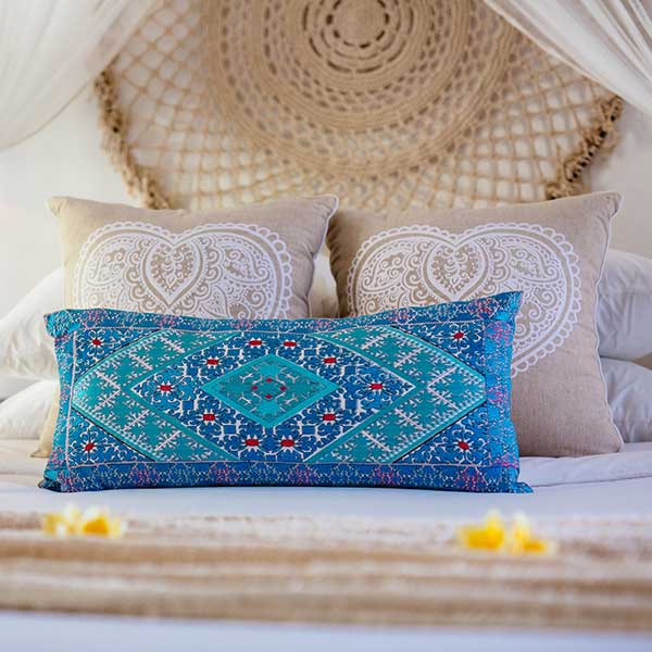 Beautifully styled King bed with in luxury bedroom in Bali retreat, Garden Retreat Room, Bliss Sanctuary For Women, Seminyak