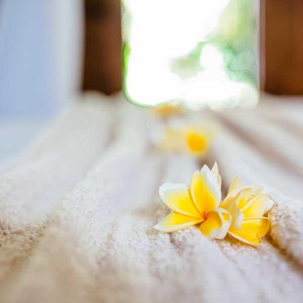 Beautiful bed setting in Bali retreat, Garden Retreat Room, Bliss Sanctuary For Women, Seminyak