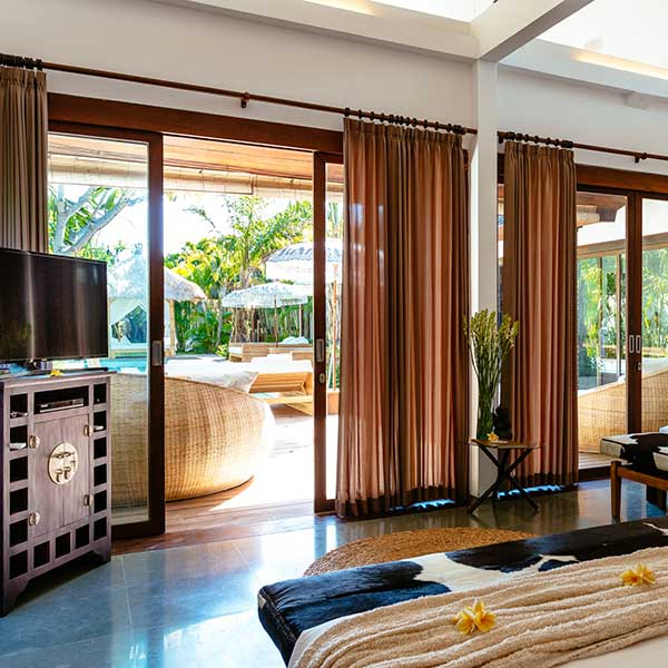 Poolside Double Room with 2 luxury King Size beds overlooking the pool, Bliss Sanctuary For Women, Bali retreat in Seminyak