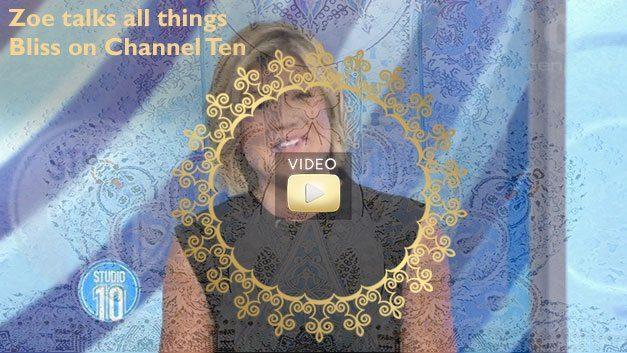 Zoe talks all things bliss on Channel 10