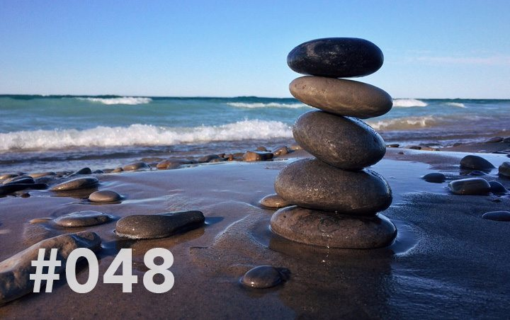 Bliss Sanctuary Bali - Blog 48 - Everything is Harmony - Harmony Day - rocks balancing on the beach
