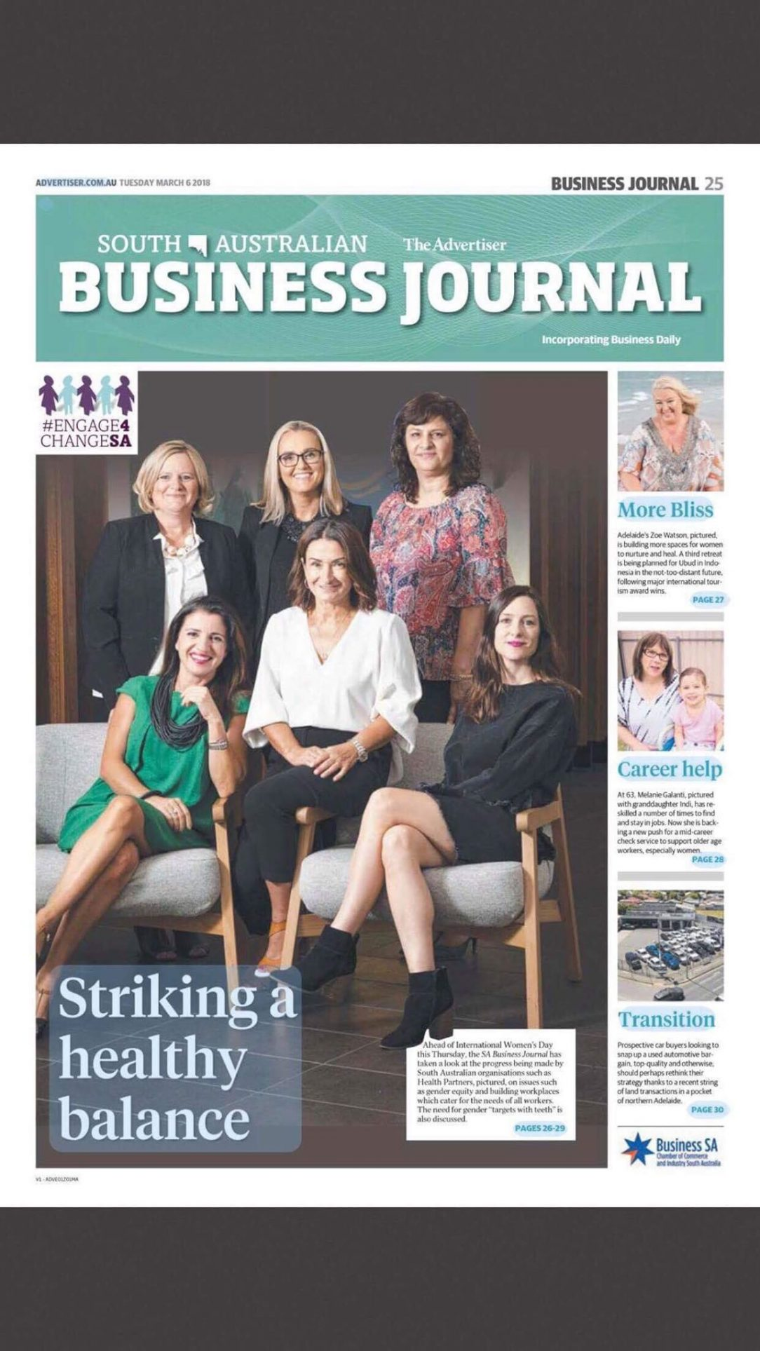 Zoe Watson featured in Advertiser Business Journal March 2018