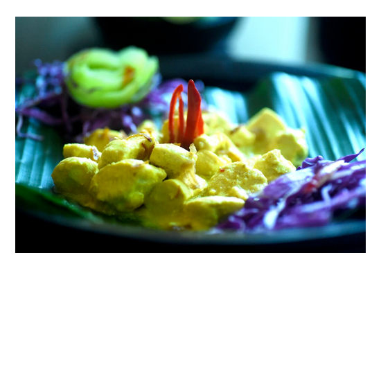 Delicious food is unlimited at Bless Bali Retreat - Chicken Curry