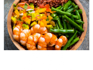 Unlimited food at Bliss Bali Retreat - Prawn and Bliss Salsa Healthy Bowl