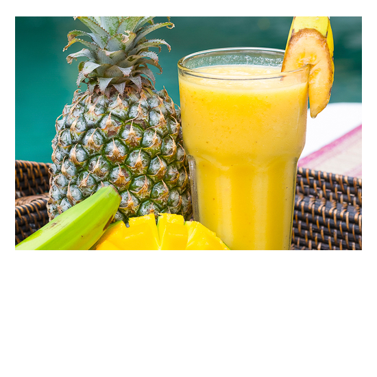 Bliss Retreat Bali Smoothies - Pineapple Banana Mango Delight