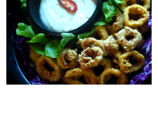 Delicious food is unlimited at Bliss Bali Retreat - Salt and Pepper Squid