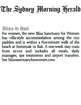 Sydney Morning Herald: Bliss in Bali