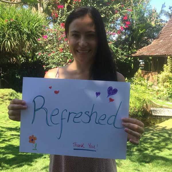 Real women feel Refreshed at Bliss Bali Retreat