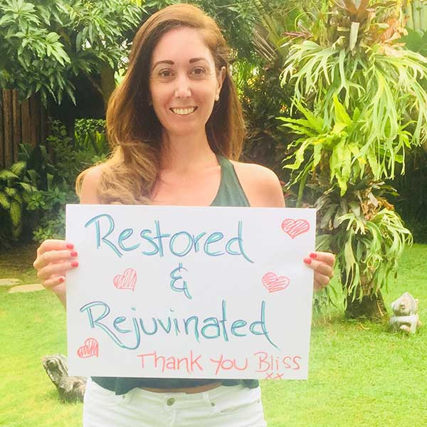 Real women feel Restored and Rejuvenated at Bliss Bali Wellness Retreat