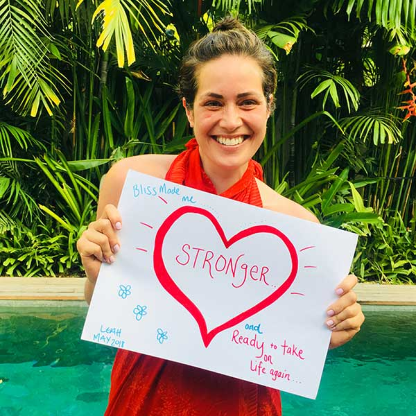 blissntell - guest feels stronger after staying at bliss bali retreat