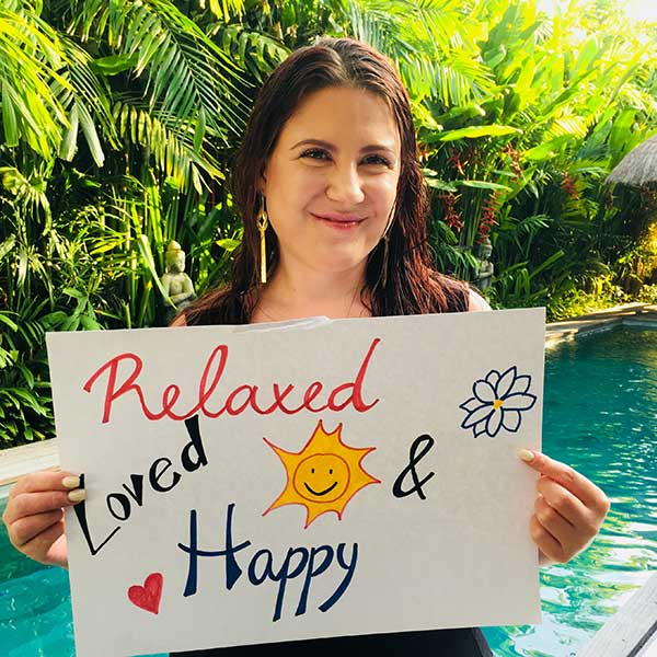 Real women feel Relaxed, Loved and Happy at Bliss Women Retreat in Bali