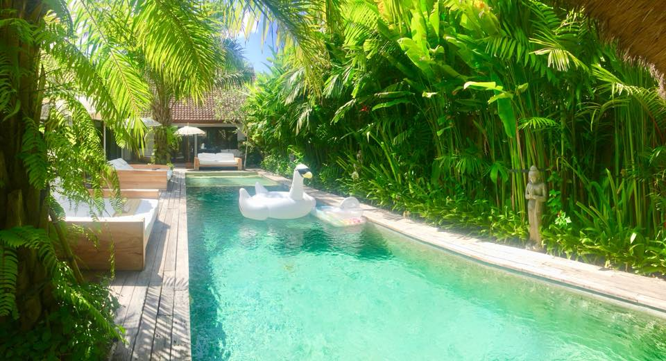 Lush garden in Seminyak Bali Retreat