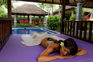 ETB Travel News website: Enjoy a hot stone massage in the serenity of Bali.