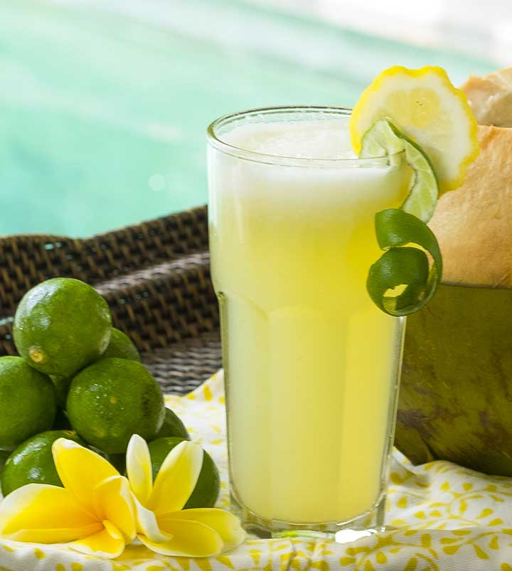 A Cool & Healthy Lemonade Spritzer, Our Health Retreat Favourite.