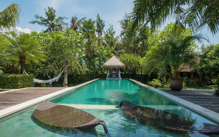Poolside at Bliss Bali retreat Canggu