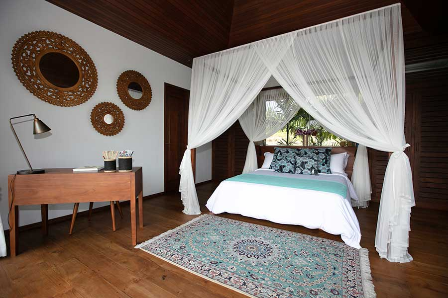 Beautiful canopy bed Ubud Bali resort