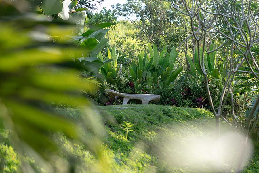 Beautiful garden Ubud wellness retreat