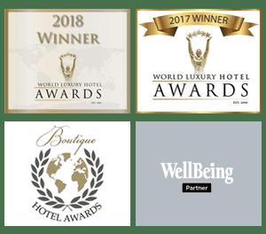 Bliss Bali retreat awards - World Luxury Hotel Awards 2017 and 2018, Wellbeing Partner, Boutique Hotel Awards