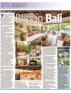 Bliss Bali retreat featured in CourierBliss Bali retreat featured in Courier